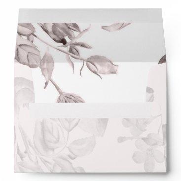 dreamy blooms blush Floral Spring Wedding Envelope