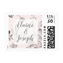 dreamy blooms blush Floral Spring Wedding Postage
