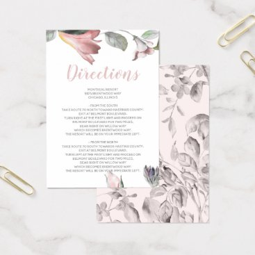 dreamy blooms blush floral wedding Detail card