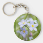 Dreamy Blue Forget Me Nots Key Chain