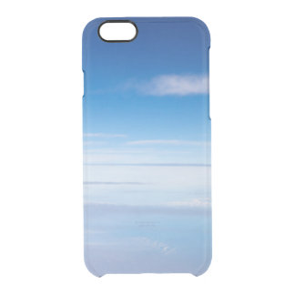 Dreamy blue sky clouds dawn photo hipster clear clear iPhone 6/6S case