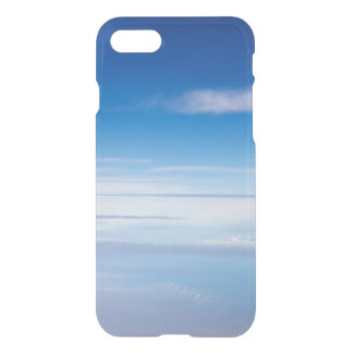Dreamy blue sky clouds dawn photo hipster clear iPhone 8/7 case