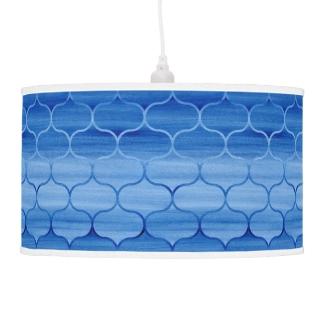 Dreamy Blue Watercolor Ogee Pattern