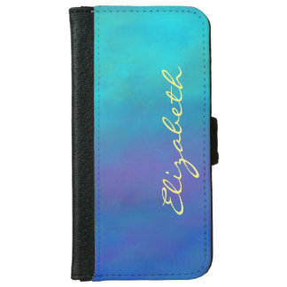 Dreamy Blues Abstract Design iPhone 6/6s Wallet Case