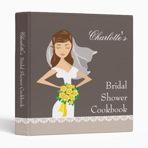 Dreamy Bride Bridal Shower Cookbook Recipe Binder