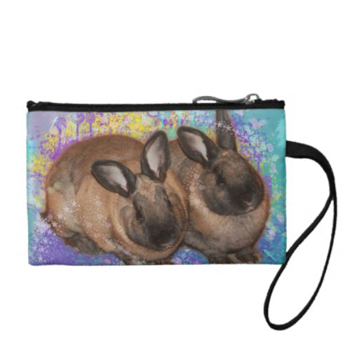 Dreamy Bunnies in Fantasy Land Colorful Coin Wallets