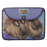 Dreamy Bunnies in Fantasy Land Colorful Sleeves For MacBook Pro