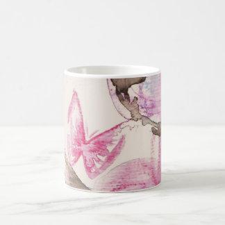 dreamy butterfly especie taza de café