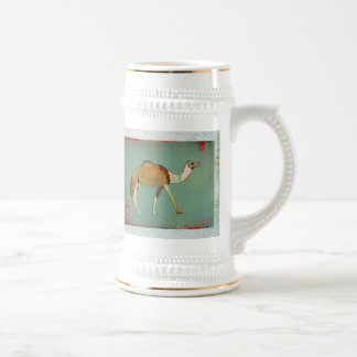 Dreamy Camel Monogram Stein 18 Oz Beer Stein