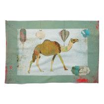 Dreamy Camel Monogram Turqoise & White  Towel