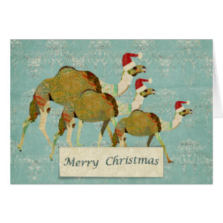 Dreamy Camels Christmas Card