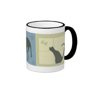 Dreamy Cats Ringer Mug