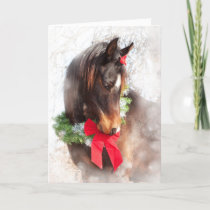 Dreamy Christmas Horse Holiday Card