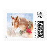 Dreamy Christmas Horse Postage