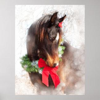 Dreamy Christmas Horse Print