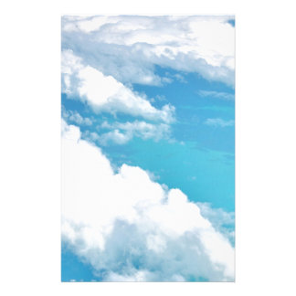 Dreamy Cloud above the caribbeans Personalized Stationery
