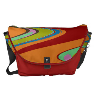 Dreamy color swirls courier bag