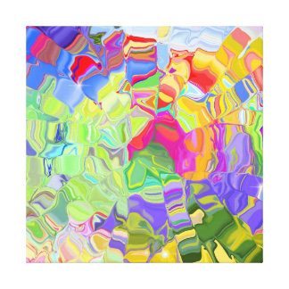 Dreamy Colorful Abstract Canvas Print