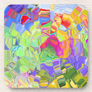 Dreamy Colorful Abstract Coasters