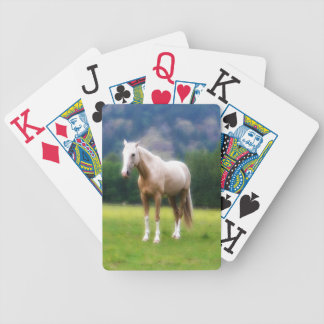 Dreamy Cream Palomino Farm Horse Photo Bicycle Playing Cards