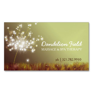 Dreamy Dandelion Magnetic Business Cards