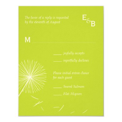 Dreamy Dandelion RSVP Card - Meadow Green