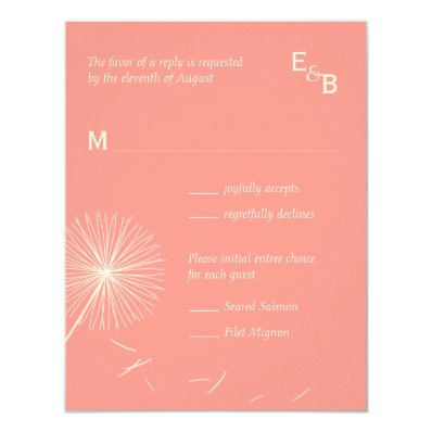 Dreamy Dandelion RSVP Card - Rose Pink