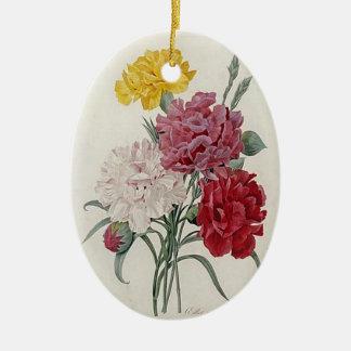 Dreamy Dianthus Ceramic Ornament