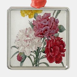 Dreamy Dianthus Metal Ornament
