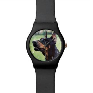Dreamy Doberman Painting Watch