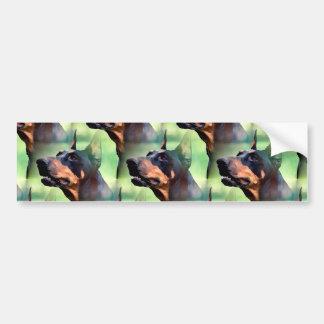 Dreamy Doberman Pinscher Face Painting Bumper Sticker