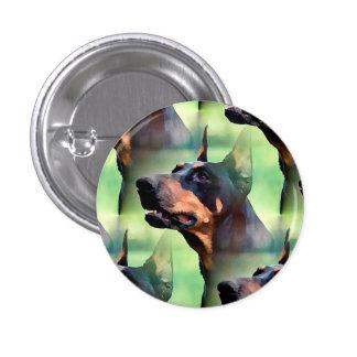 Dreamy Doberman Pinscher Face Painting 1 Inch Round Button