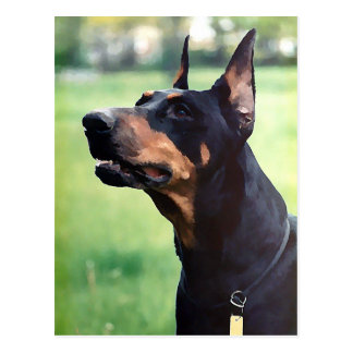 Dreamy Doberman Pinscher Face Painting Postcard