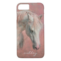Dreamy Fantasy Horse in Pink with Monogram iPhone 8/7 Case