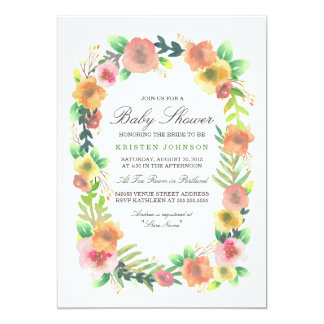Dreamy Floral Baby Shower Card