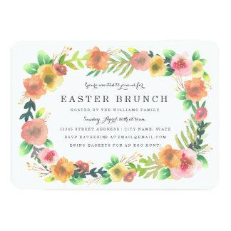 Dreamy Floral Easter Brunch Card