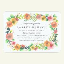 Dreamy Floral Easter Brunch Invitation