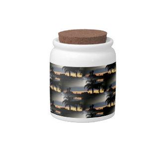 Dreamy Florida Sunset Candy Jar