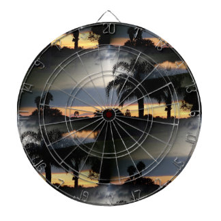 Dreamy Florida Sunset Dartboard