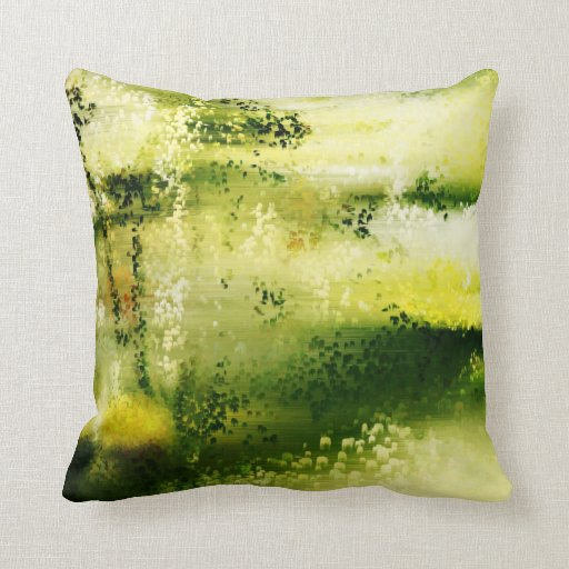 Dreamy Flowers In The Rain 3 - Painting Art Pillow