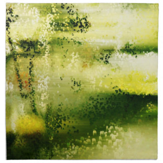 Dreamy Flowers In The Rain 3 - Paintings Napkins