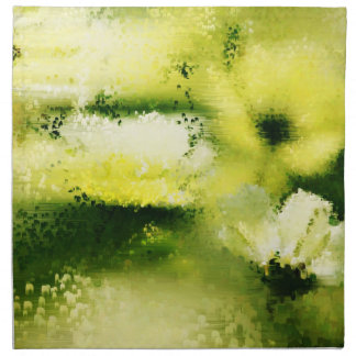 Dreamy Flowers In The Rain - Painting Art Napkins