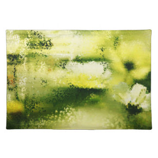 Dreamy Flowers In The Rain - Paintings Placemats