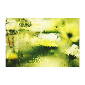Dreamy Flowers In The Rain - Wrapped canvas