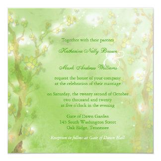 Dreamy Forest Meadow Green Wedding Card