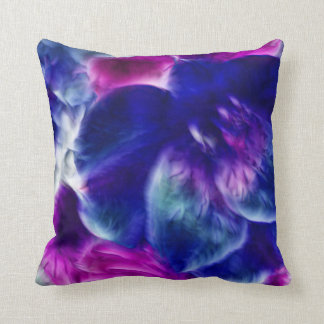 Dreamy Fractal Abstract Floral Throw Pillows