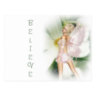 Dreamy garden fairy postcard