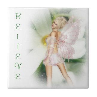 Dreamy garden fairy tile