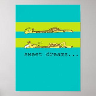 Dreamy Giraffe Poster