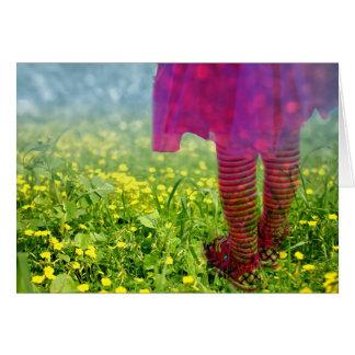 Dreamy Girl Dancing Photograph Card
